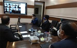 نخستین جلسه ویدیو کنفرانس نمایندگان سیستان و بلوچستان در مجلس دانش آموزی کشور برگزار شد