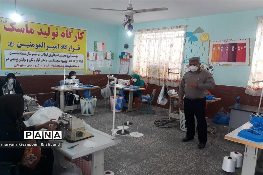 بازدیدسرپرست آموزش و پرورش شهرستان مسجدسلیمان از ستادهای مردم نهاد