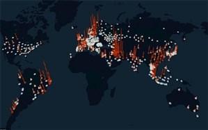 اینفوگرافیک/ آمار کرونا در جهان تا ۱۵ فروردین