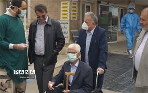 پیرمرد ۹۲ ساله تاکستانی کرونا را شکست داد
