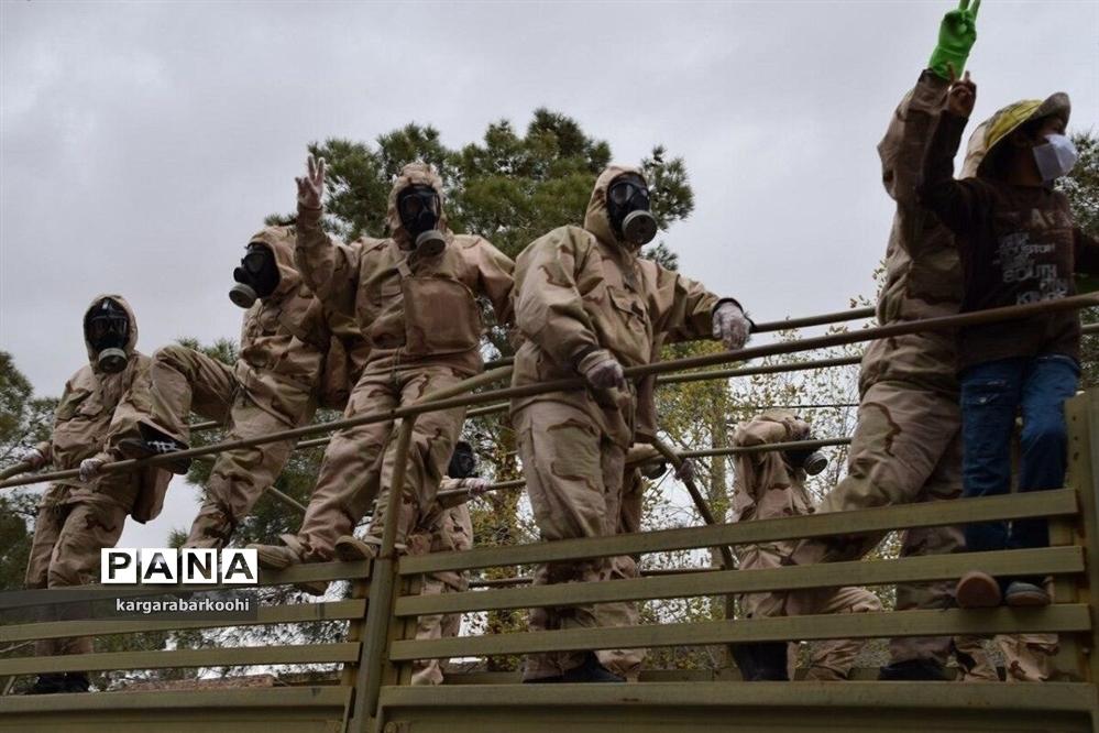 رزمایش دفاع بیولوژیک و پاکسازی محیطی در ابرکوه