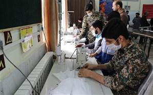 تولید و توزیع ماسک در مناطق محروم توسط دانش آموزان مشهدی