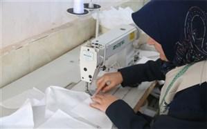 تولید۱۵۰۰۰ ماسک بهداشتی توسط هنرآموزان مرکز فنی و حرفه ای اسلامشهر