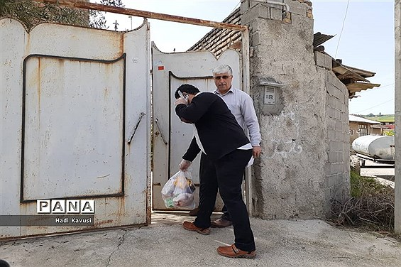 اهدای بستههای حمایتی دانشآموزان و فرهنگیان میاندورود به اقشار آسیبپذیر