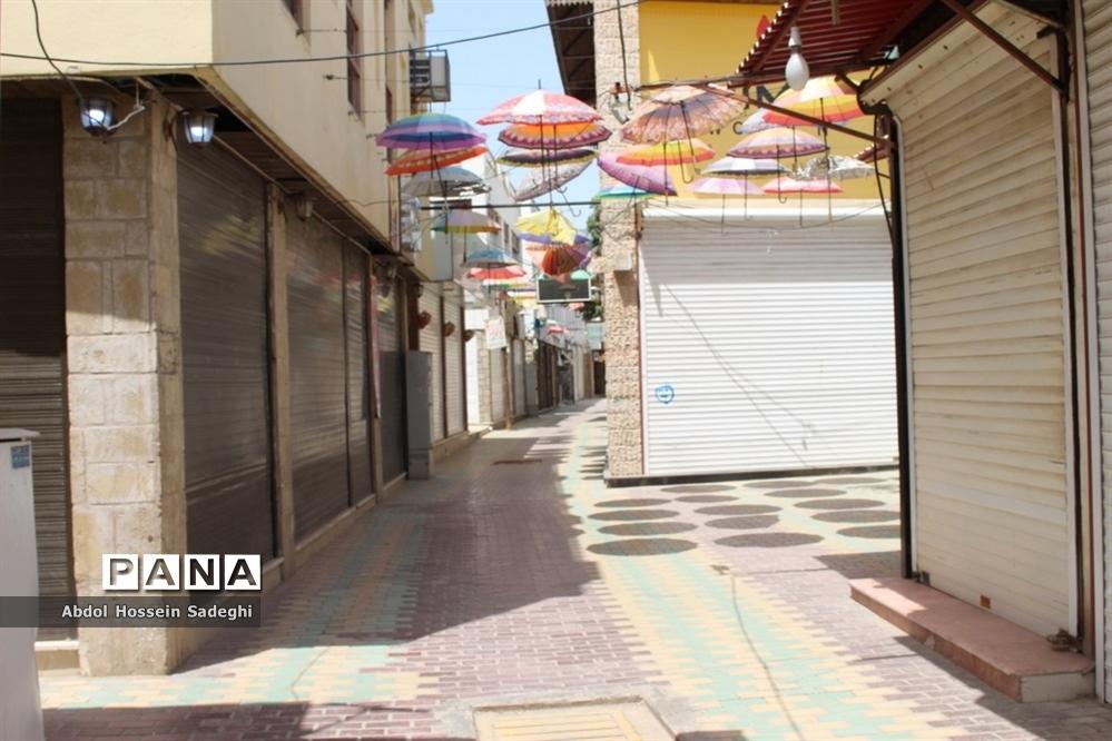 بازار بوشهر همچنان تعطیل است