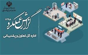 گزارش عملکرد اداره کل تعاون و پشتیبانی