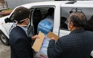 اهدای اقلام بهداشتی آموزش و پرورش آذربایجان غربی به مراکز درمانی کرونا