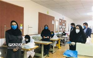 کارگاه تولید ماسک زیر نظر آموزش و پرورش در درگز افتتاح شد
