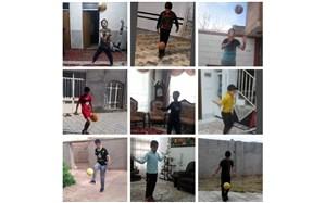 چالش ورزشی دانش آموزانگنابادی درون منزل