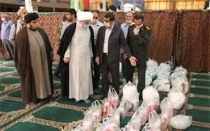 نماینده ولی فقیه در استان و امام جمعه بوشهر از محل استقرار اقلام بهداشتی و بسته های معیشتی بازدید کرد