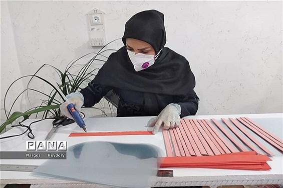 کارگاه تولید ماسک های طلقی (شیلد)  جهت استفاده کادر پزشکی شهرستان امیدیه