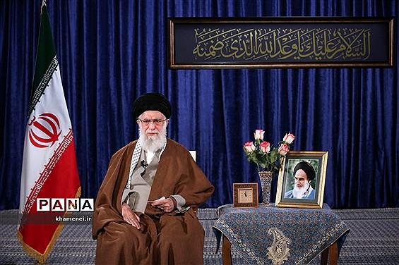 سخنرانی تلویزیونی  رهبر انقلاب اسلامی به مناسبت ولادت حضرت امام زمان(عج)