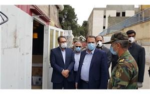 بازدید استاندار از نقاهتگاه بیماران مبتلا به کرونا در مجتمع ورزشگاهی شهید آیت الله دستغیب