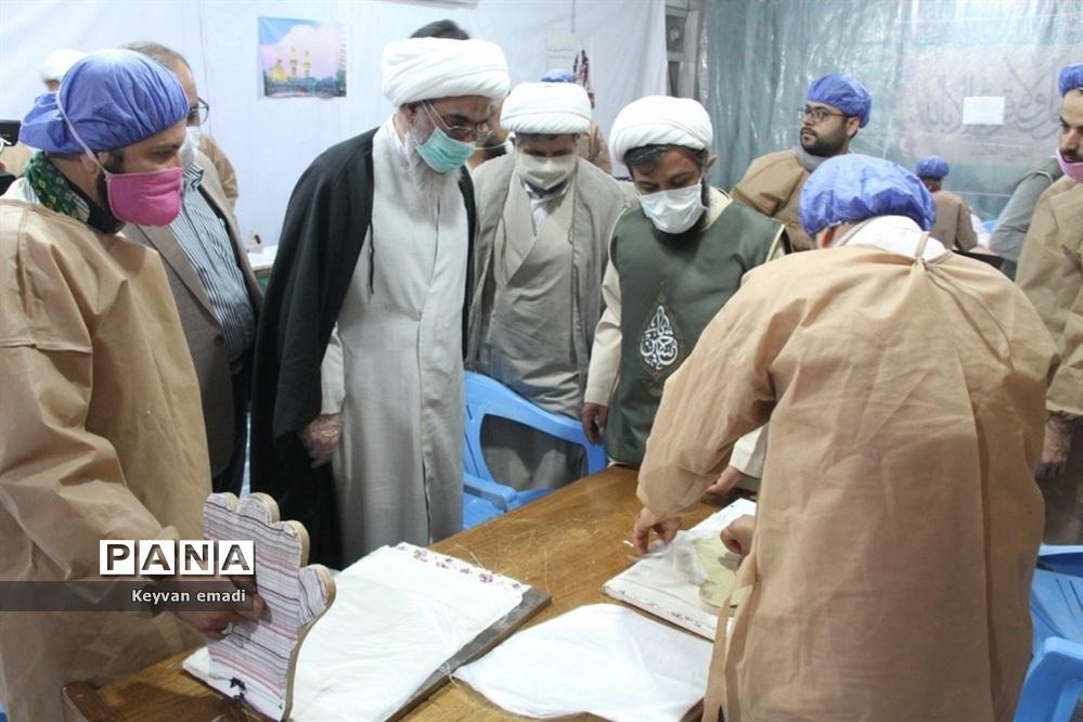 بازدید نماینده ولی فقیه در استان و امام جمعه بوشهر از کارگاههای مردمی تولید اقلام بهداشتی