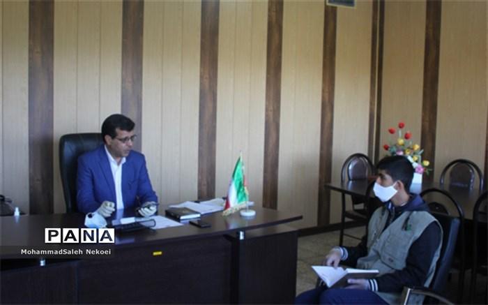 گفتگو خبرنگار پانا با جناب آقای  نوروزی ، رئیس آموزش و پرورش ناحیه یک شهرستان شهرکرد