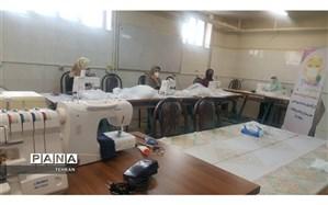 راه اندازی کارگاه تولید ماسک بهداشتی به همت هنرستان بعثت  منطقه 14 تهران