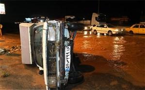 آخرین وضعیت جاده قم – اراک، بعد از سیلاب دیروز +ویدئو