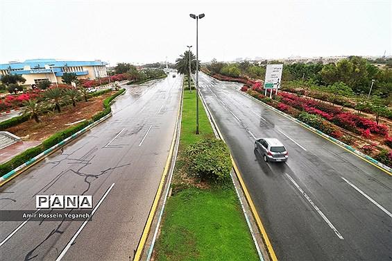 طراوت بهاری باران در روزهای کرونایی کیش