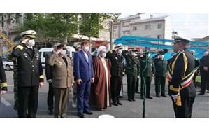 رژه خدمت یگان های نمونه نظامی و انتظامی در روز ارتش برگزار شد