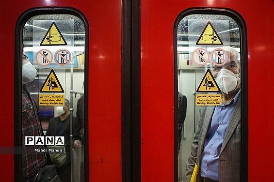 روزهای کرونایی  در مترو تهران