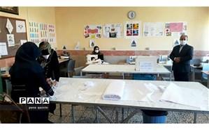 راه اندازی خط تولید ماسک در هنرستان الزهرا طارم سفلی