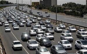 ترافیک سنگین آزادراه کرج-تهران