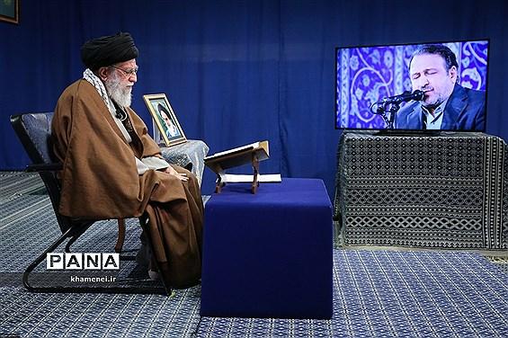 محفل انس با قرآن کریم، با حضور رهبر انقلاب اسلامی از طریق ارتباط تصویری با چند تن از قاریان ممتاز کشور