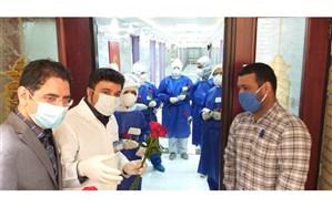 قدردانی از کادر درمان بیمارستان سوم شعبان دماوند به مناسبت هفته سلامت