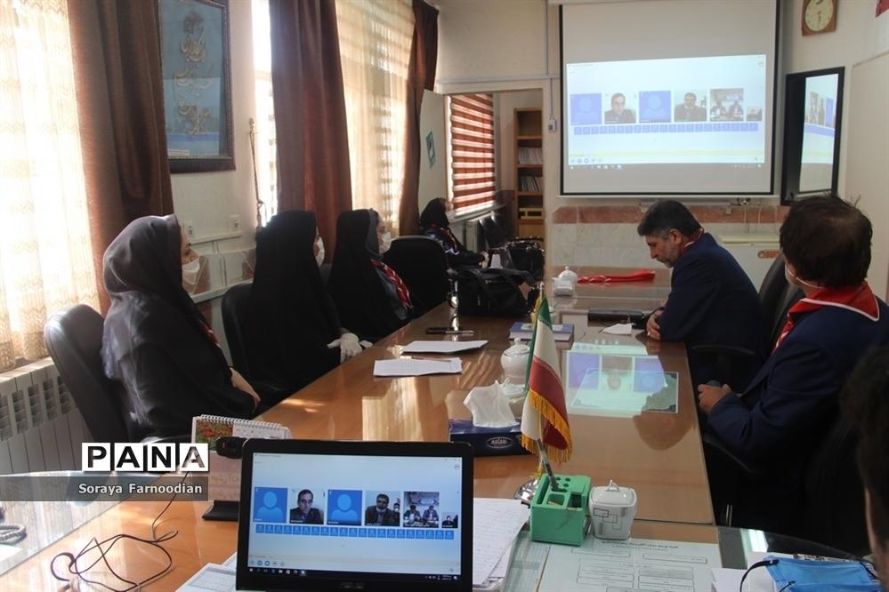 جلسه ویدئوکنفرانس قائم مقام سازمان دانشآموزی با مدیران سازمان دانشآموزی استانهای سراسر کشور
