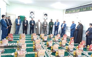 خرید و بسته بندی اقلام پویش کمک های مومنانه فرهنگیان شهرستان کلات