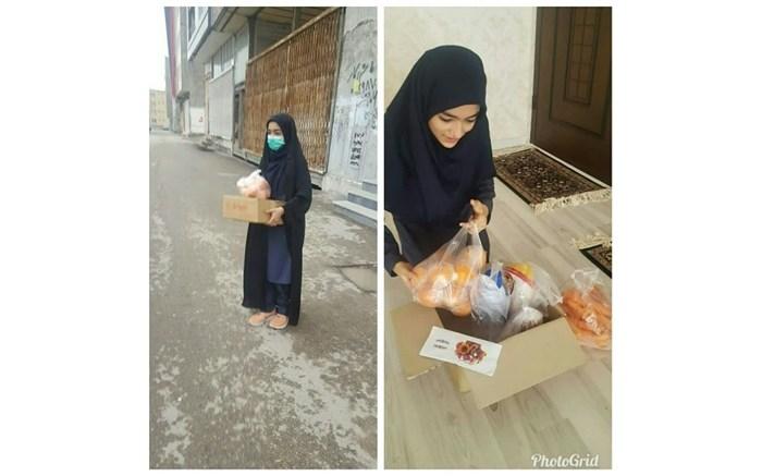 اهدای جایزه به هموطنان نیازمند توسط دانش آموز اردبیلی