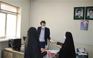 توزیع ماسک و اقلام بهداشتی بین کارکنان اداری مدیریت آموزش و پرورش اسلامشهر