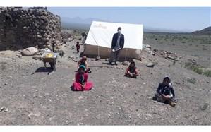 برگزاری کلاسهای درس با فاصله گذاری اجتماعی در میان عشایر