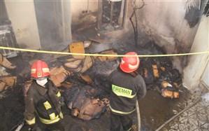 نجات دو کودک در حادثه آتش سوزی منزل مسکونی