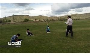 آموزش در مناطق مرزی استان خراسان شمالی با رعایت فاصله اجتماعی