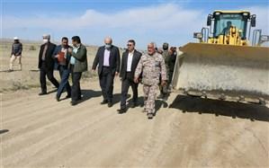 عملیات احداث جاده عشایری ورامین آغاز شد