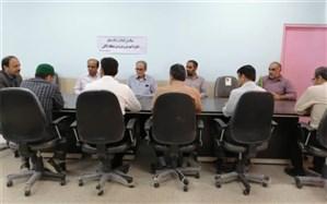 دیدار سرپرست شهرداری و اعضای شورای شهر کاکی با رئیس آموزش و پرورش منطقه