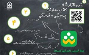 فعالیت معاونت پرورشی و فرهنگی در شبکه شاد