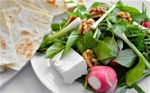 نان، پنیر و سبزی عادت مناسب غذایی در وعده افطار