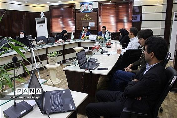 جلسه ویدئو کنفرانس مسئولان و کارشناسان سازمان دانشآموزی استان بوشهر