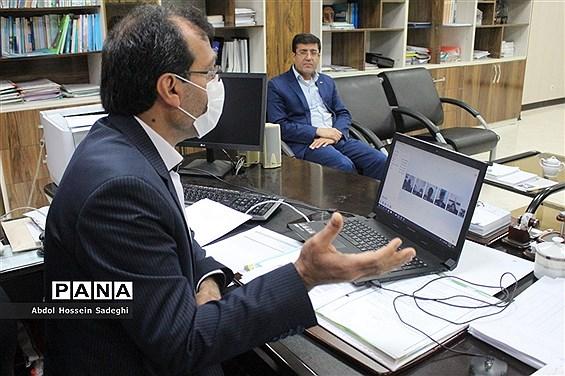 نشست ویدئو کنفرانس نمایندگان مجلس و مجامع دانشآموزی با معاون آموزش متوسطه آموزش و پرورش استان بوشهر