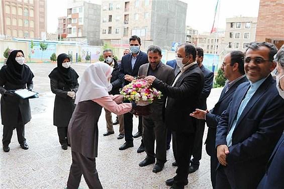 بازدید معاون عمرانی وزیر آموزش و پرورش از مدارس ابتدایی قزوین