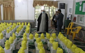 بازدید نماینده ولی فقیه در استان بوشهر از محل تهیه بسته های معیشتی رزمایش کمک های مؤمنانه