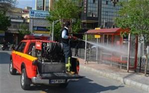 ضد عفونی ایستگاه های اتوبوس شهری
