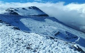 برف بهاری ارتفاعات خلخال را سفیدپوش کرد