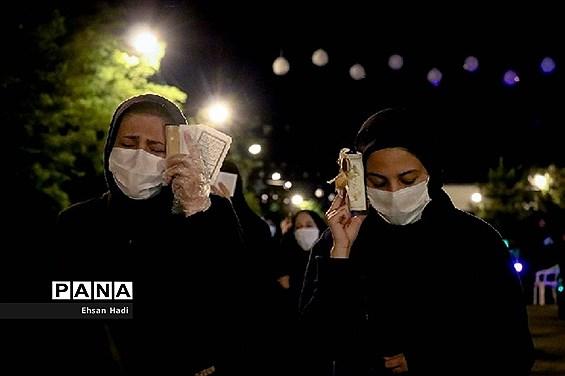مراسم احیای شب ۲۱ رمضان در خیابان های مشهد