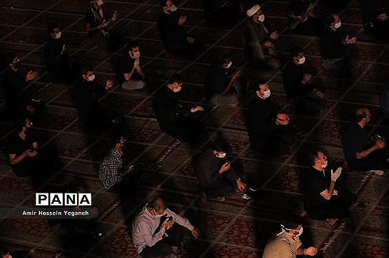 مراسم احیای شب بیست و یکم  ماه رمضان در مصلی بزرگ کیش