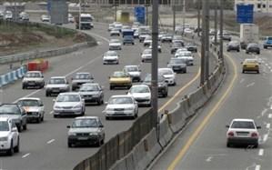ترافیک نیمهسنگین در آزادراه کرج - تهران