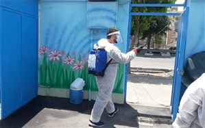 آماده سازی مدارس منطقه 17 شهر تهران به منظور بازگشایی برای رفع اشکال