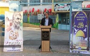 اجرای سرود حماسی باکاروان انصار درمحلات منطقه 17 به مناسبت روز قدس